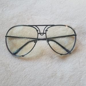 Accessories - Black frame Oversized Aviator Glasses